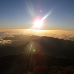 Wordless Wednesday #12. Sunrise on the Summit of El Teide (Tenerife, Spain)